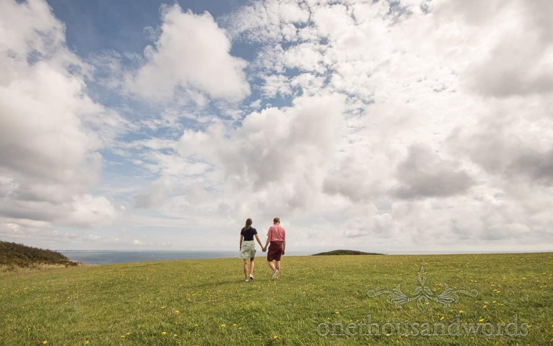 Old Harry Rocks Engagement Photographs In Dorset With Pip & Christopher