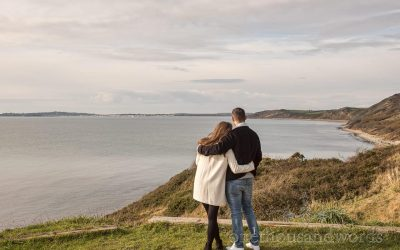 Osmington Mills Engagement Photographs With Alex And Reece