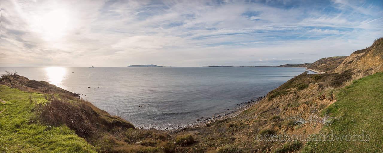 Osmington Mills Jurassic Coast panoramic photograph by one thousand words documentary wedding photography in Dorset