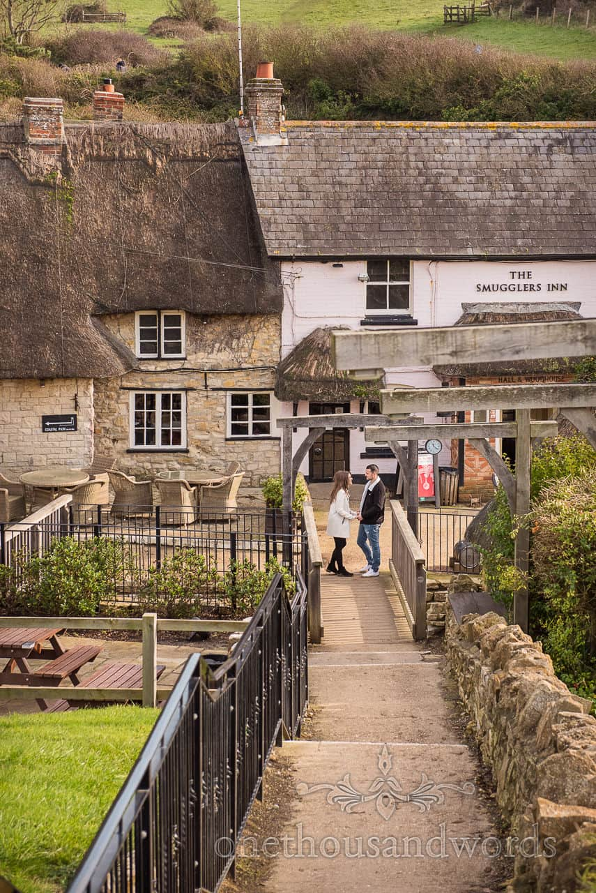 Smugglers Inn pub at Osmington in Dorset engagement photograph by one thousand words documentary wedding photography