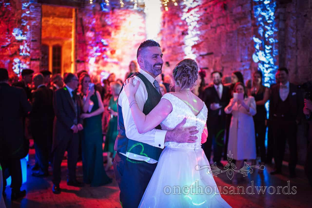 Newlyweds first dance at Lulworth Estate wedding