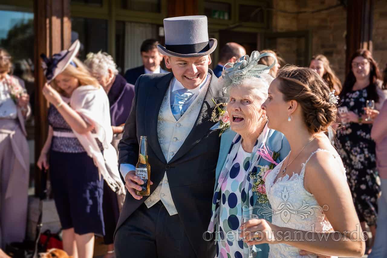 Village Hall wedding photographs corona drinks reception