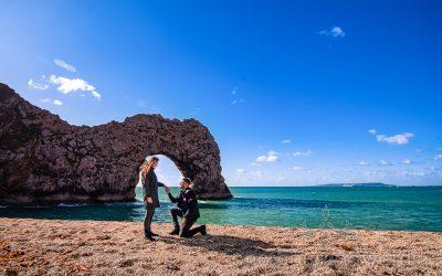 Durdledoor Proposal Photographs With Rav & Charlotte