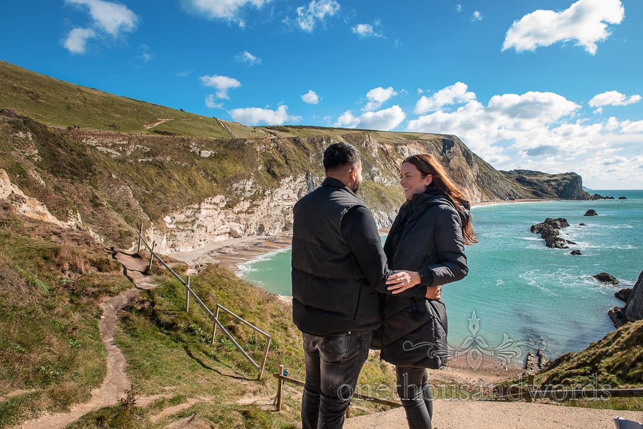 Proposal photographs at Man O'War bay in Dorset