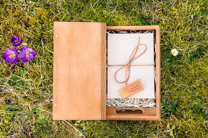 Dorset Hampshire wedding photographer services album wooden USB and presentation box