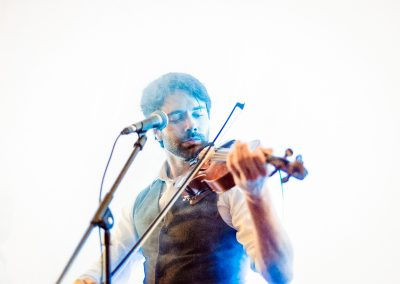 Wedding band fiddle player disappears as dancefloor is engulfed in smoke