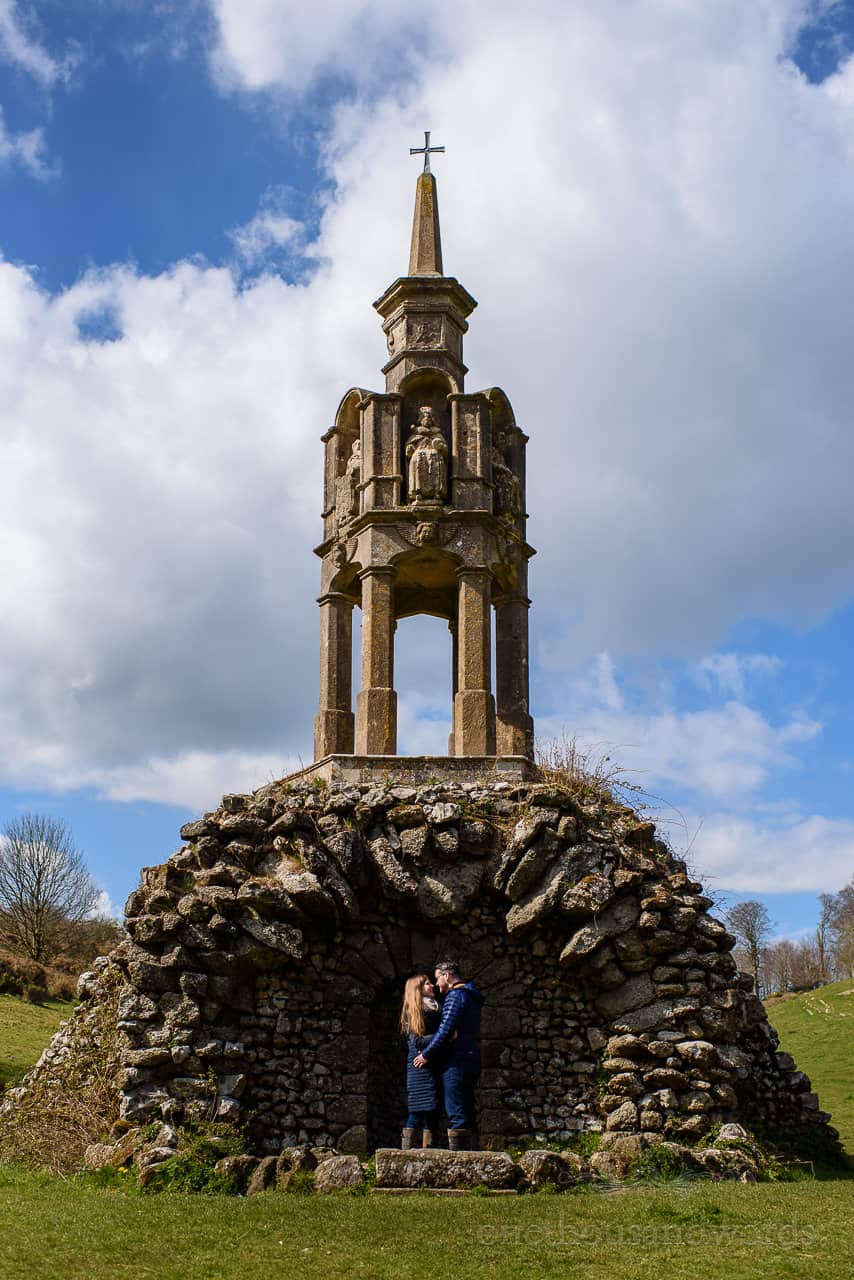 St Pauls pump, river stour source monument with engaged couple