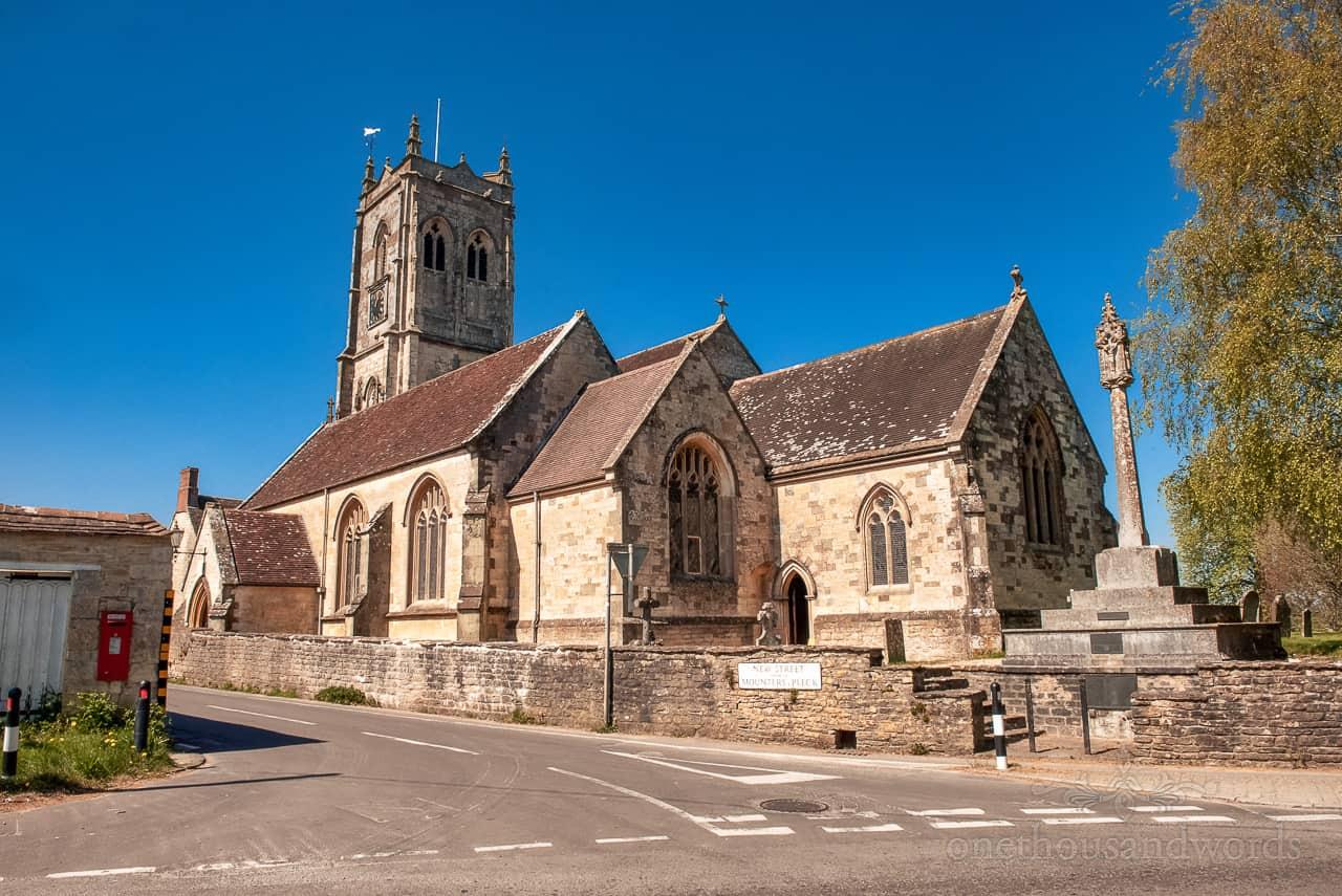 St Gregory's church wedding venue in the sun in Marnull, North Dorset