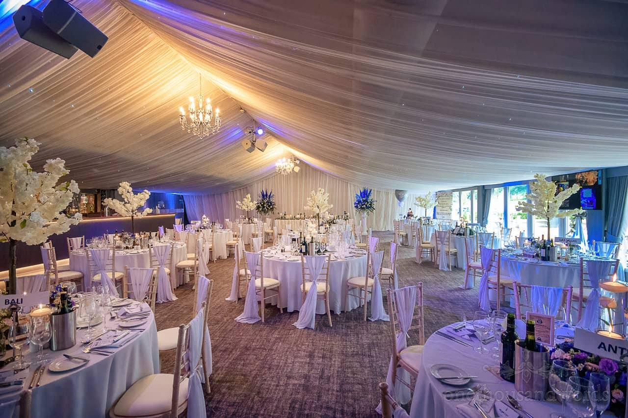 Garden pavillion wedding reception space at Oakley Hall wedding venue in Hampshire