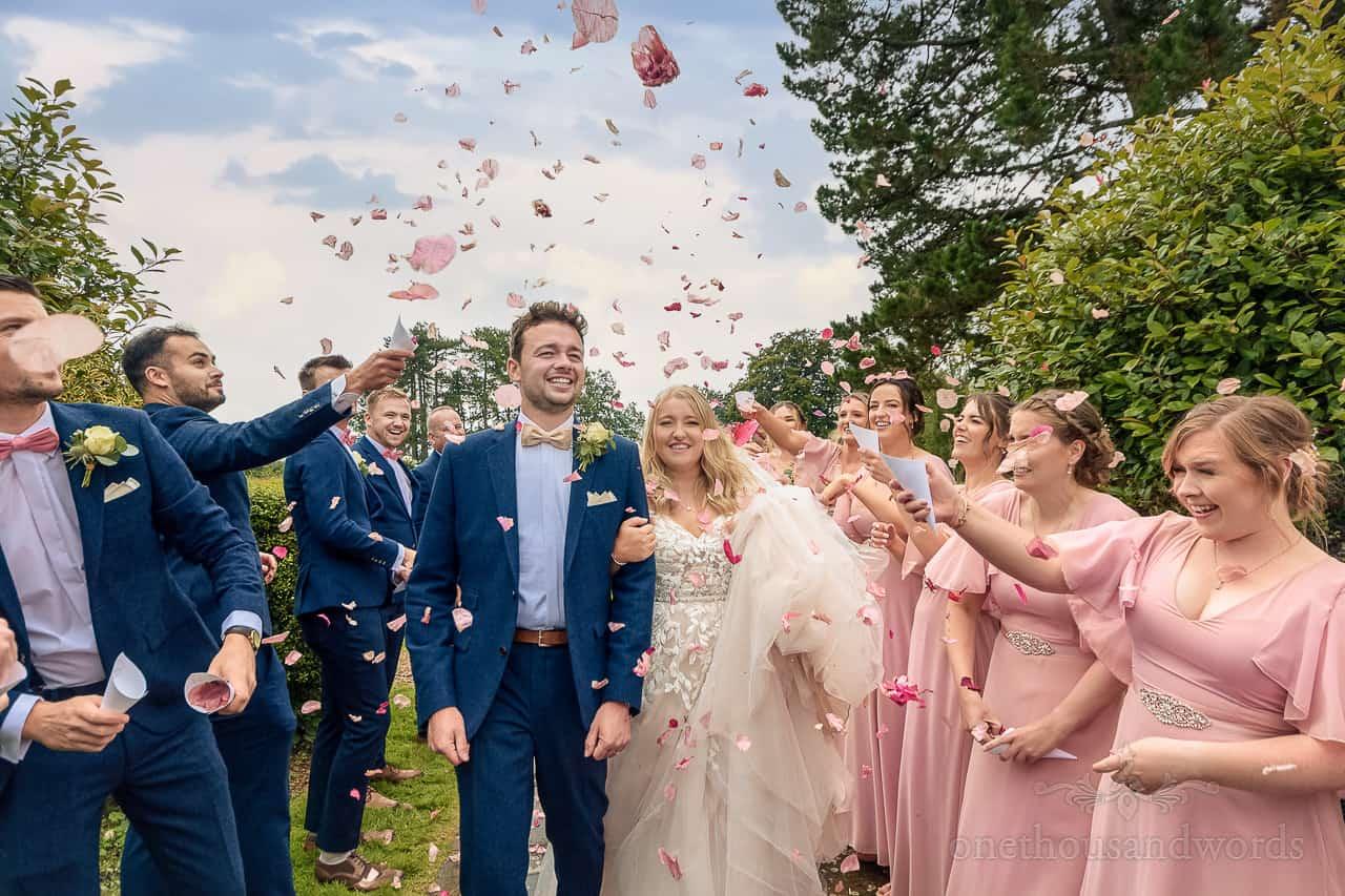 Wedding Confetti photograph at Hethfelton House wedding venue in Dorset