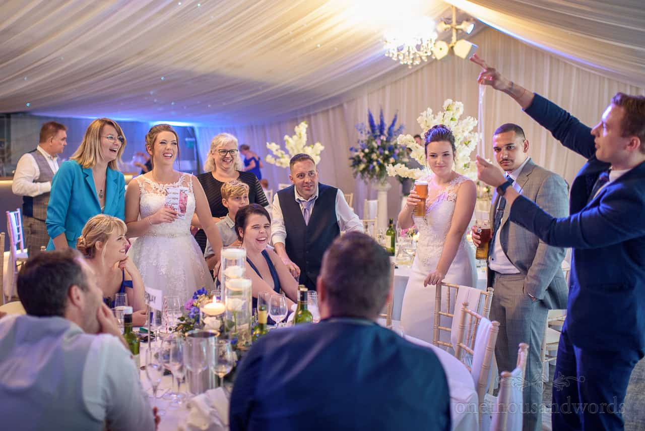 Wedding magician Iain Bailey wows bride and guests at Oakley Hall wedding venue in Hampshire