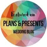 Wedding photographers in Dorset featured on Plans & Presents wedding blog badge